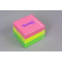 Bloczek samoprzylepny TARTAN™ (7676-N), 76x76mm, 6x100 kart., mix kolorów