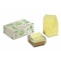 Podajnik do bloczków samop. ekologiczny POST-IT® Z-Notes (R330-SD) z 12 bloczkami 76x76mm, Bloczki samoprzylepne, Papier i etykiety
