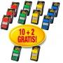Zestaw promocyjny zakładek POST-IT® (680 -P10+2), PP, 25,4x43,2mm, mix kolorów, 10+2 GRATIS