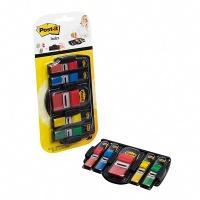 Zestaw promocyjny zakładek POST-IT® (680DGD2BEU) PP 12x43mm/25x43mm 4x35/1x50 kart. mix kolorów podajnik GRATIS, Bloczki samoprzylepne, Papier i etykiety