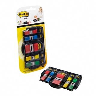 Zestaw promocyjny zakładek POST-IT® (680DGD2BEU), PP, 12x43mm/25x43mm, 4x35/1x50 kart., mix kolorów, podajnik GRATIS, Bloczki samoprzylepne, Papier i etykiety