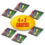 Zestaw promocyjny zakładek POST-IT® (683-4), PP, 12x43mm, 4+2x35 kart., mix kolorów, 2 GRATIS