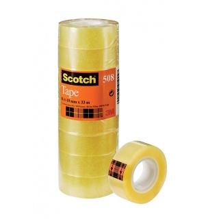 Taśma biurowa ekonomiczna SCOTCH® (508), 19mm, 33m, 8szt., Taśmy biurowe, Drobne akcesoria biurowe