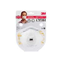 Protective Half Mask with valve 3M Cool Flow FFP1 (8812), manual grinding