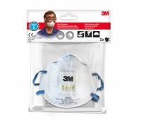Protective Half Mask with valve 3M Cool Flow FFP2 (8822), protects against dust and fog