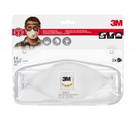 Protective Half Mask with valve 3M Cool Flow FFP2 (9322+), protects against dust and fog