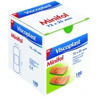 Plastry VISCOPLAST MINIFOL 72x25mm, 100szt., Plastry, apteczki, Artykuły higieniczne i dozowniki