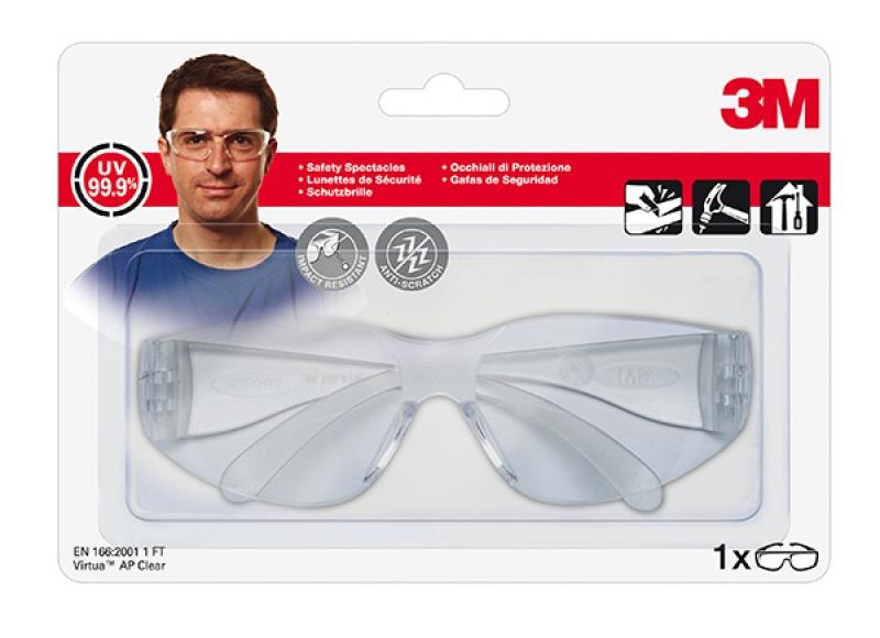 Okulary ochronne 3M Virtua™ AP Clear, transparentne, Okulary, Ochrona indywidualna
