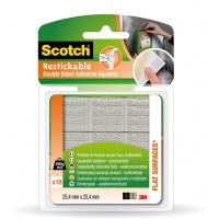Taśma montażowa SCOTCH® (R110-EURO), dwustronna, do wielokrotnego użytku, 24x24mm, 18szt., Taśmy specjalne, Drobne akcesoria biurowe