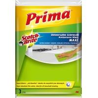 """Ściereczki uniwersalne PRIMA Maxi """"Jak bawełna"""", 3szt., żółte, Akcesoria do sprzątania, Artykuły higieniczne i dozowniki"""