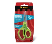 Nożyczki dla dzieci SCOTCH® (1442P), 12cm, zaokrąglone, zielone, Nożyczki, Drobne akcesoria biurowe