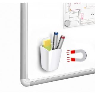 Przybornik magnetyczny CEP Pro GLOSS, biały, Przyborniki na biurko, Drobne akcesoria biurowe