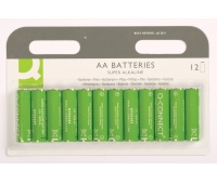 Super Alkaline Batteries Q-CONNECT AA, LR06, 1, 5V, 12pcs