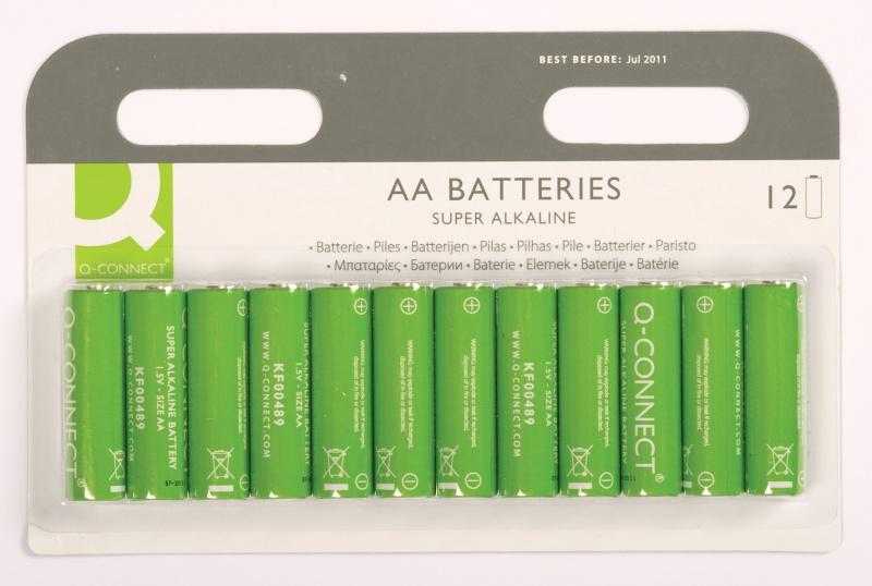 Baterie super-alkaliczne Q-CONNECT AA, LR06, 1,5V, 12szt.