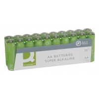 Super Alkaline Batteries Q-CONNECT AA, LR06, 1, 5V, 20pcs