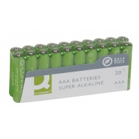 Super Alkaline Batteries Q-CONNECT AAA, LR03, 1, 5V, 20pcs