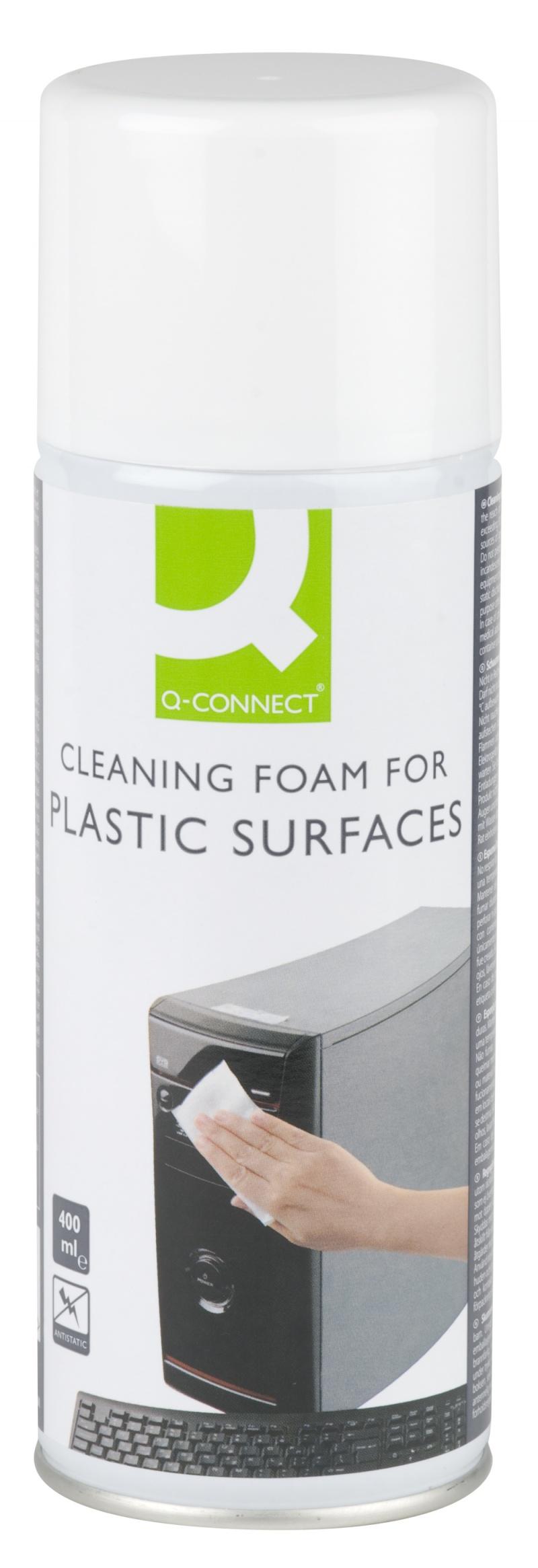 Pianka do plastiku 400ml Q-CONNECT, Środki czyszczące, Akcesoria komputerowe