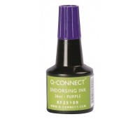 Stamp Ink Q-CONNECT, 28ml, purple