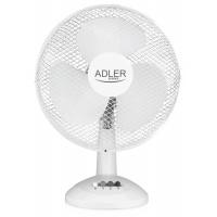 Wentylator ADLER AD 7303, biurkowy, śr. 30cm, 70W, biały, Wentylatory, Wyposażenie biura