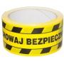 Taśma ostrzegawcza OFFICE PRODUCTS Solvent, zachowaj bezpieczny odstęp, 50mm, 50m, czarnożółta