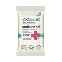 Chusteczki odświeżające CLEANIC Antybacterial, 24szt., Akcesoria do sprzątania, Artykuły higieniczne i dozowniki