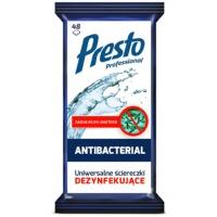 Uniwersalne ściereczki dezynfekujące PRESTO 2w1, 48szt., białe, Akcesoria do sprzątania, Artykuły higieniczne i dozowniki