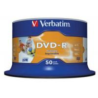 Verbatim DVD-R 16x 4,7GB 50p cake box DataLife+AZO+, nadruk,, Płyty CD/DVD i dyskietki, Akcesoria komputerowe