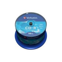 Verbatim CD-R 52x 700MB 50p cake box DataLife,Extra Protection,bez nadruku, Płyty CD/DVD i dyskietki, Akcesoria komputerowe