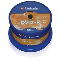 Verbatim DVD-R 16x 4,7GB 50p cake box DataLife+,AdvAZO,scr ers, bez nadr, mat, Płyty CD/DVD i dyskietki, Akcesoria komputerowe