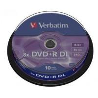 Verbatim DVD+R 8x 8,5GB DL 10p cake box DataLife+, double layer,mat, bez nadruku, Płyty CD/DVD i dyskietki, Akcesoria komputerowe