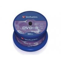 Verbatim DVD+R 16x 4,7GB 50p cake box DataLife+AZO+,scratch res, bez nadr,, Płyty CD/DVD i dyskietki, Akcesoria komputerowe