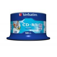 Verbatim CD-R 52x 700MB 50p cake box DataLife+,SuperAZO, Crystal, bez nadruku, Płyty CD/DVD i dyskietki, Akcesoria komputerowe