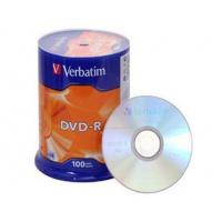 Verbatim DVD-R 16x 4,7GB 100p cake box DataLife+,AdvAZO,scr ers, bez nadr, mat, Płyty CD/DVD i dyskietki, Akcesoria komputerowe
