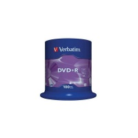 Verbatim DVD+R 16x 4,7GB 100p cake box DataLife+AZO+,scratch res, bez nadr,, Płyty CD/DVD i dyskietki, Akcesoria komputerowe