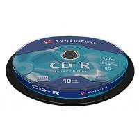 Verbatim CD-R 52x 700MB 10p cake box DataLife, Extra Pritection, bez nadruku, Płyty CD/DVD i dyskietki, Akcesoria komputerowe
