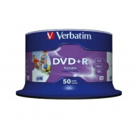 Verbatim DVD+R 16x 4,7GB 50p cake box DataLife+,prof,Adv.AZO+, printable, Płyty CD/DVD i dyskietki, Akcesoria komputerowe