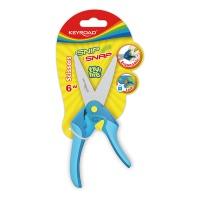Nożyczki szkolne KEYROAD Snip Snap 6, z blokadą, blister, mix kolorów, Nożyczki, Drobne akcesoria biurowe