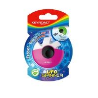 Gumka uniwersalna KEYROAD Ufo Spinner, blister, mix kolorów, Plastyka, Artykuły szkolne