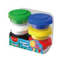 Farby do malowania palcami KEYROAD, 6x100ml, mix kolorów, Plastyka, Artykuły szkolne