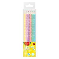 Kredki ołówkowe KEYROAD, trójkątne, pastel, 6szt., zawieszka, mix kolorów, Plastyka, Artykuły szkolne