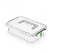 Pojemnik antybakteryjny ORPLAST Antibacterial, z rączką, 3,1l, transparentny, Pudła, Wyposażenie biura