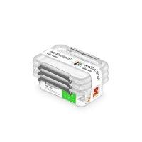 Zestaw pojemników antybakteryjnych ORPLAST Antibacterial, 3x0,35l, transparentny, Pudła, Wyposażenie biura