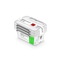 Zestaw pojemników antybakteryjnych ORPLAST Antibacterial, 3x0,5l, transparentny, Pudła, Wyposażenie biura
