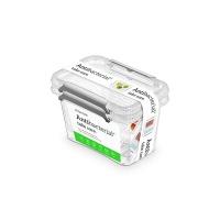 Zestaw pojemników antybakteryjnych ORPLAST Antibacterial, 2x0,65l, transparentny, Pudła, Wyposażenie biura
