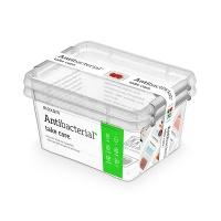 Zestaw pojemników antybakteryjnych ORPLAST Antibacterial, 2x2,0l, transparentny, Pudła, Wyposażenie biura
