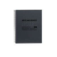 Kołozeszyt MIQUELRIUS Just Black Recycled, A5, 120 kart., 80g, czarny, Zeszyty, Artykuły szkolne