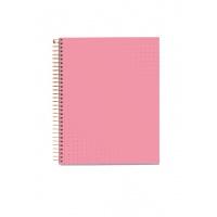 Kołonotatnik MIQUELRIUS NB-4, A5, w kratkę, 120 kart., pink bella garden, Kołonotatniki, Zeszyty i bloki