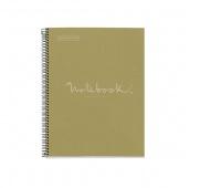 Kołonotatnik MIQUELRIUS NB-1 Emotions, A4, w kratkę, 80 kart., 90g, ekozielony, Kołonotatniki, Zeszyty i bloki