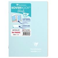 Zeszyt CLAIREFONTAINE Blush, A5, w linię, 48 kart., 14,8x21cm, niebiesko-koralowy, Zeszyty, Artykuły szkolne