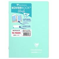 Zeszyt CLAIREFONTAINE Blush, A5, w linię, 48 kart., 14,8x21cm, miętowo-różowy, Zeszyty, Artykuły szkolne